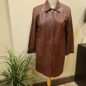 Sienastudio leather coat